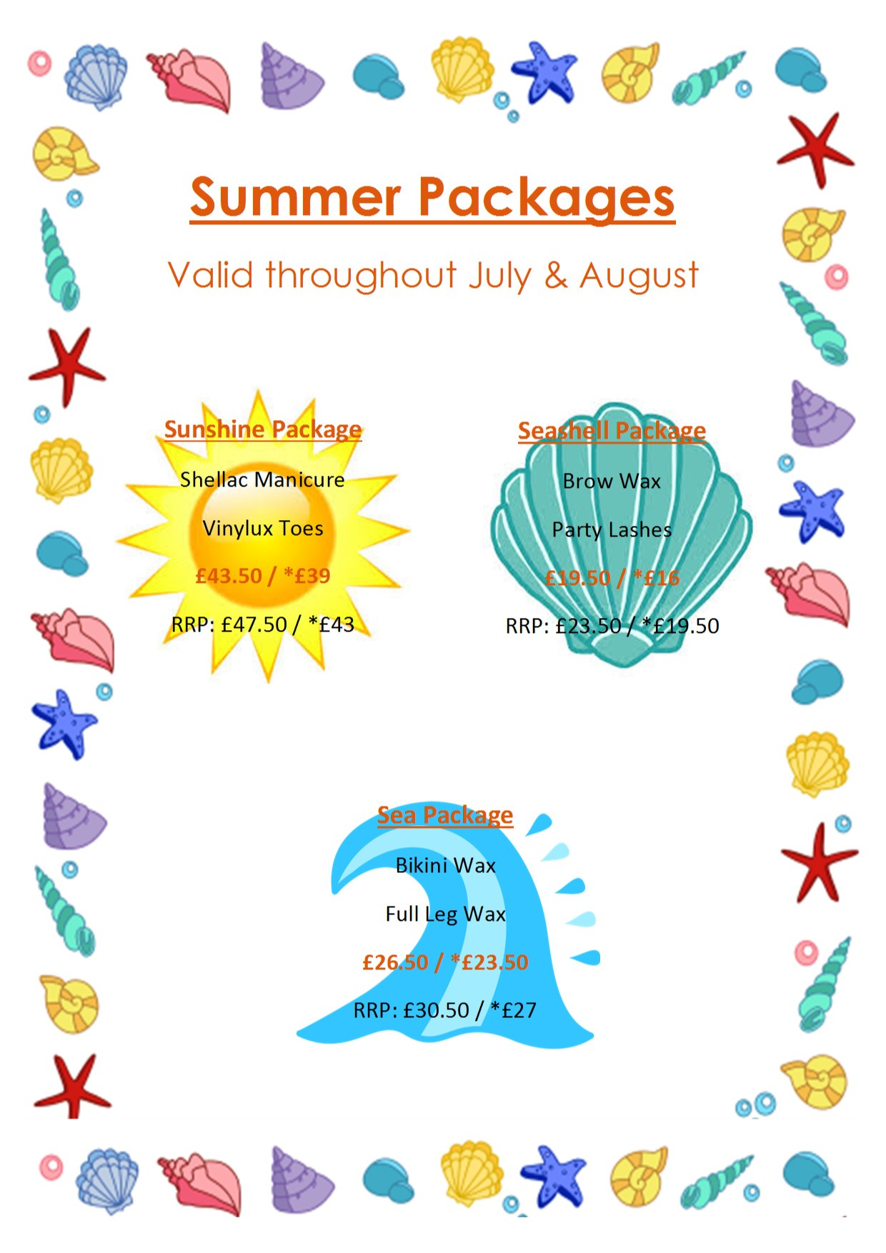 summer july aug offers poster